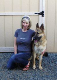Michelle with Bodhi for advanced obedience