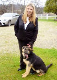 Krista with Maki for advanced obedience