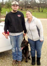 Hanna and John with Ruger for advanced obedience