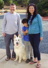 Rob Family from San Fransico with Snowy