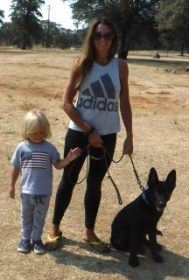 Natalie Toplan Family with Balto 4 month old GSD