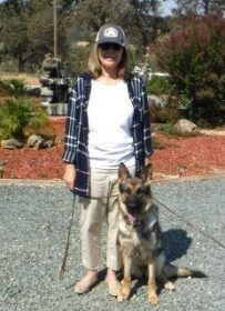 Beth with Kona 14 month old GSD