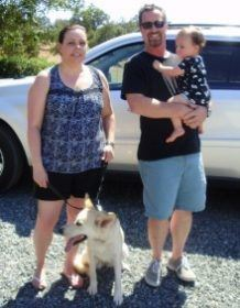 Miller Family with 1-year-old Henny GSD